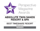 Perspective Magazine Awards Best Timeshare Resort AP